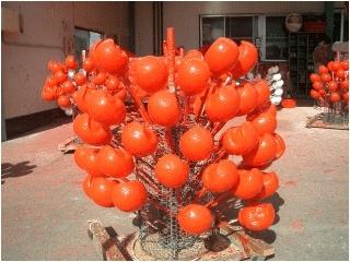 赤く塗り天然乾燥させます